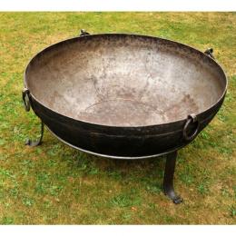 Wrought Iron Kadai Fire Bowls - 90cm to 109cm