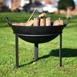 """""""Agni"""" Iron Kadai Fire Bowl in Situ in the Garden"""