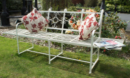 Florence cream folding bench
