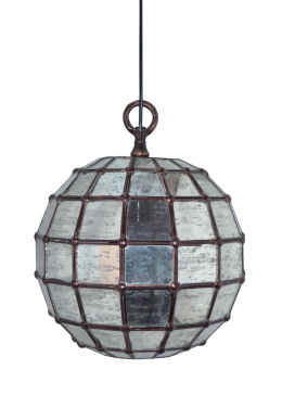 Mercury Glass Domed Hanging Pendant Ceiling Light