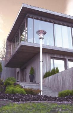 Galvanised Steel Modern Lamp Post