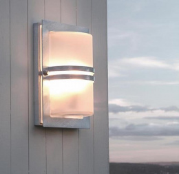 """Hythgate"" Rectangular Modern Porch Light with Frosted Glass"