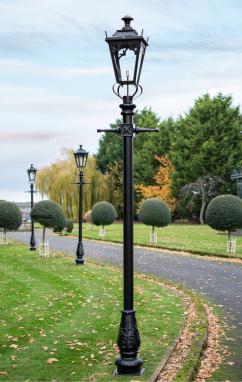 Garden Lamp Post With Gothic Style Black Lantern