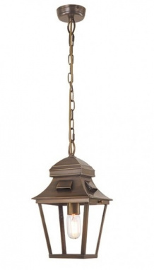 Georgian Antique Brass Chain Lantern