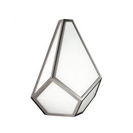 Glass And Metal Abstract Design Wall Light
