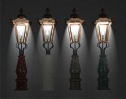 golf course entrance pillar lights in the dark