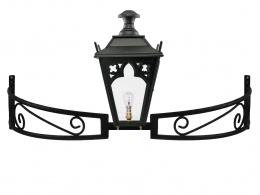 Black Gothic Lantern on Bow Bracket