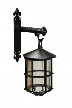 Gothic Black Iron Wall Mounted Interior Lamp