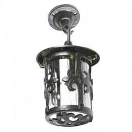 Gothic Ceiling Mounted Iron Lantern