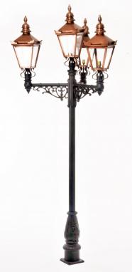 The Grand Estate Copper Lamp Post