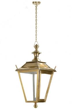 Antique Brass Hanging Dorchester Lantern On Chain