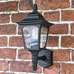 """Hoddlesden"" Traditional Black Wall Lantern"