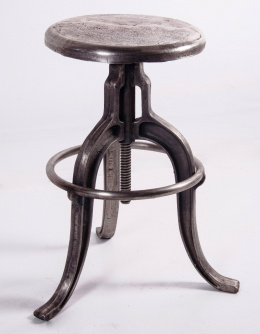 Cast iron  industrial style bar stool