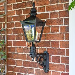 Kensington Wall Light with Upgraded Royale Bracket On Brick Wall
