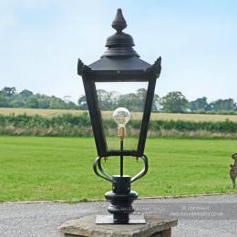 Black Victorian Lantern & Pillar Post - 102cm