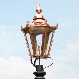 Large Copper Hexagon Victorian Lantern