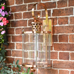 Large Copper Top Fix Cylindrical Wall Light