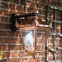 Copper Top Fix Wall Lantern