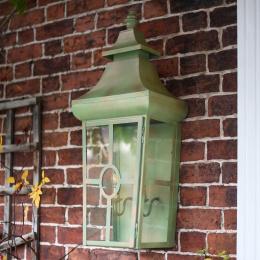 Large Verdigris Green Classic Wall Lantern