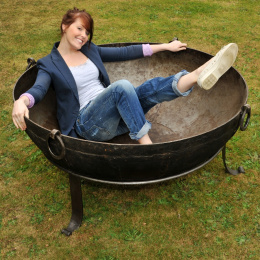 Wrought Iron Extra Large Kadai Fire Bowl