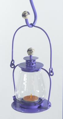 Lavender Lilac Garden Candle Lantern