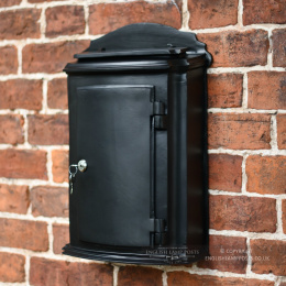 Black York Heavy Post and Parcel Box