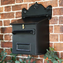 Black Cambourne Secure Parcel Box Wall Mount