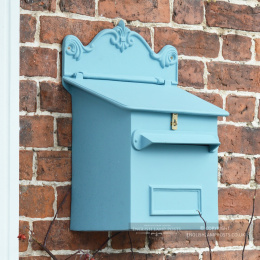 Sky Blue Cambourne Secure Parcel Box Wall Mount