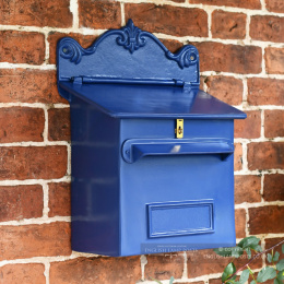 Royal Blue Cambourne Secure Parcel Box Wall Mount