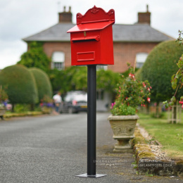 Red Cambourne Secure Parcel Box On Stand