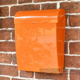 Orange Contemporary Wall Mounted Post & Parcel Box
