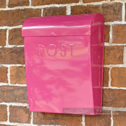 Hot Pink Contemporary Wall Mounted Post & Parcel Box