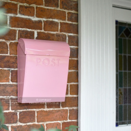 Baby Pink Contemporary Wall Mounted Post & Parcel Box