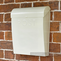 French Cream Contemporary Wall Mounted Post & Parcel Box