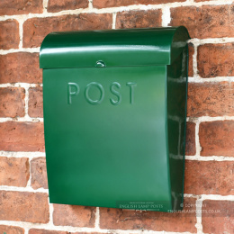 Fern Green Contemporary Wall Mounted Post & Parcel Box