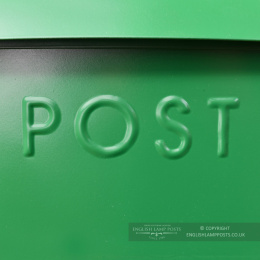 Green Lockable Wall Mounted Modern Post Box
