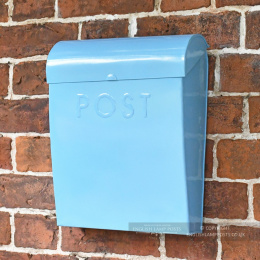 Baby Blue Contemporary Wall Mounted Post & Parcel Box