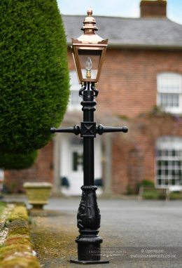 Copper Miniature Victorian Lamp Post Set 1.5m