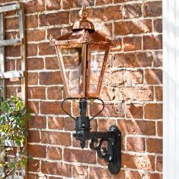 Copper Wall Lantern on Royale Bracket