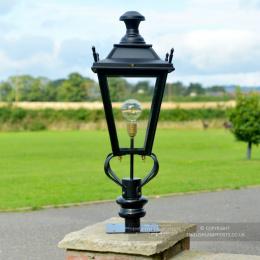 Black Dorchester Pillar Post Light - 81cm