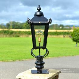 Black Victorian Lantern & Pillar Post