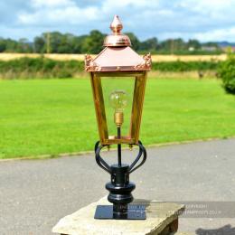 Victorian Copper Lantern & Pillar Post