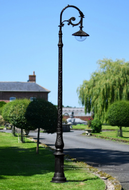 3m Antique Black Gothic Cast Iron Victorian Lamp Post
