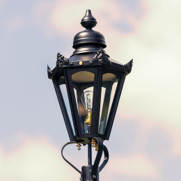 Medium Black Hexagonal Victorian Lantern