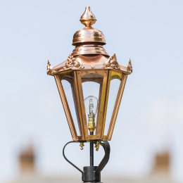 Medium Copper Hexagon Victorian Lantern