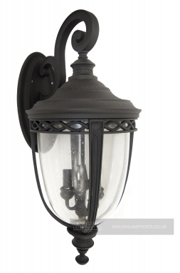 """The Chelford"" Black Top Fix Traditional Wall Light"