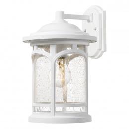 Medium White Finish Suspended Cylinder Wall Lantern