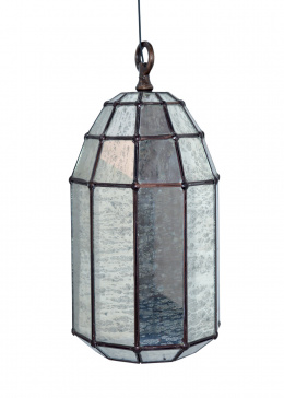 Mercury Glass Cylindrical Hanging Pendant Ceiling Light
