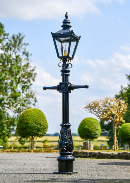 Miniature Victorian Lamp Post set on the Driveway