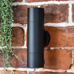 Modern Black Cylindrical Wall Spotlight
